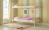 Двухъярусная кровать Эмма 90х190, Выбор цвета, Металлическая двухъярусная кровать, Доставка 250грн
