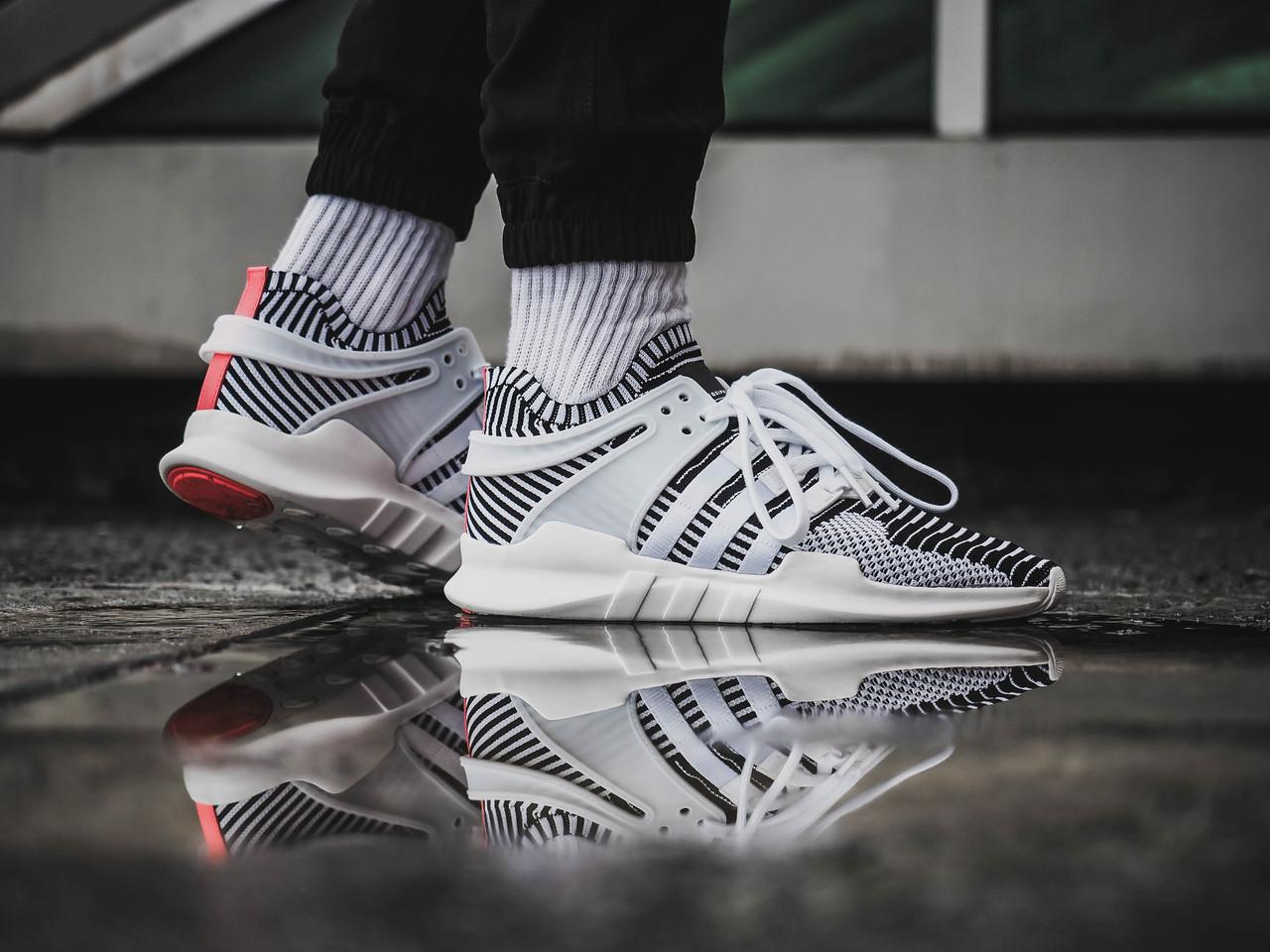 size 40 bb685 6e657 Мужские кроссовки Adidas EQT Support ADV Zebra BA7496 - Bigl.ua