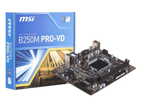 "Материнская плата MSI B250M PRO-VD s.1151 DDR4 ""Over-Stock"" Б/У"