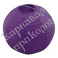 Декор подвесной Шар (35см) фиолетовый, фото 1