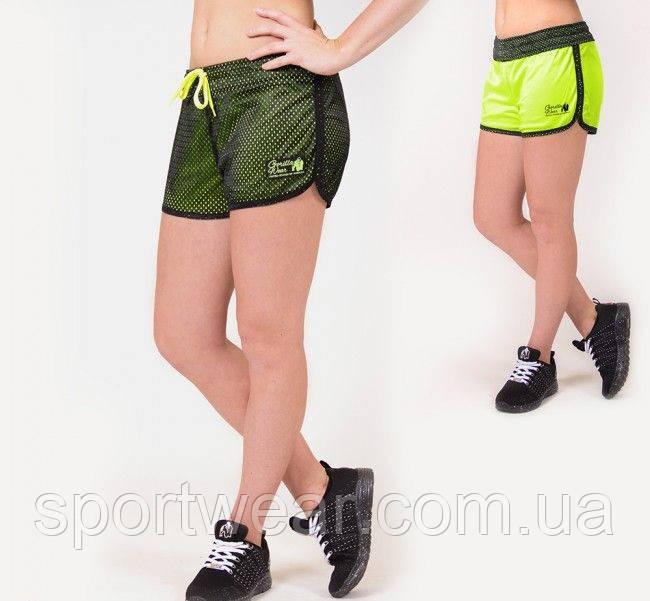 Спортивные шорты Madison Reversible - Black/Neon Lime, фото 1