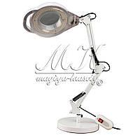 LED  Лампа лупа 2в1 ( подставка)