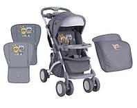 Детская прогулочная коляска  Lorelli/bertoni APOLLO GREY BABY OWLS+MAMA BAG