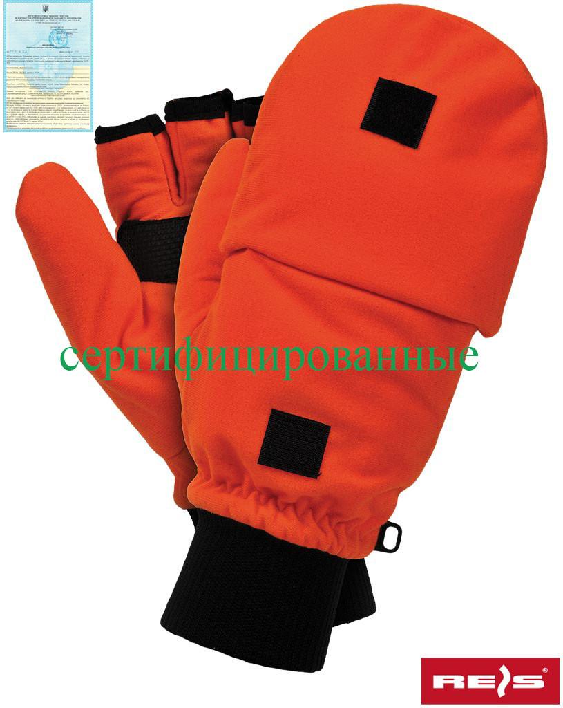 Утепленные перчатки, выполненные из оранжевого флиса RDROPO PB