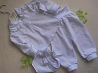 Комплект нарядный на выписку или для крестин (размер 56см) белый