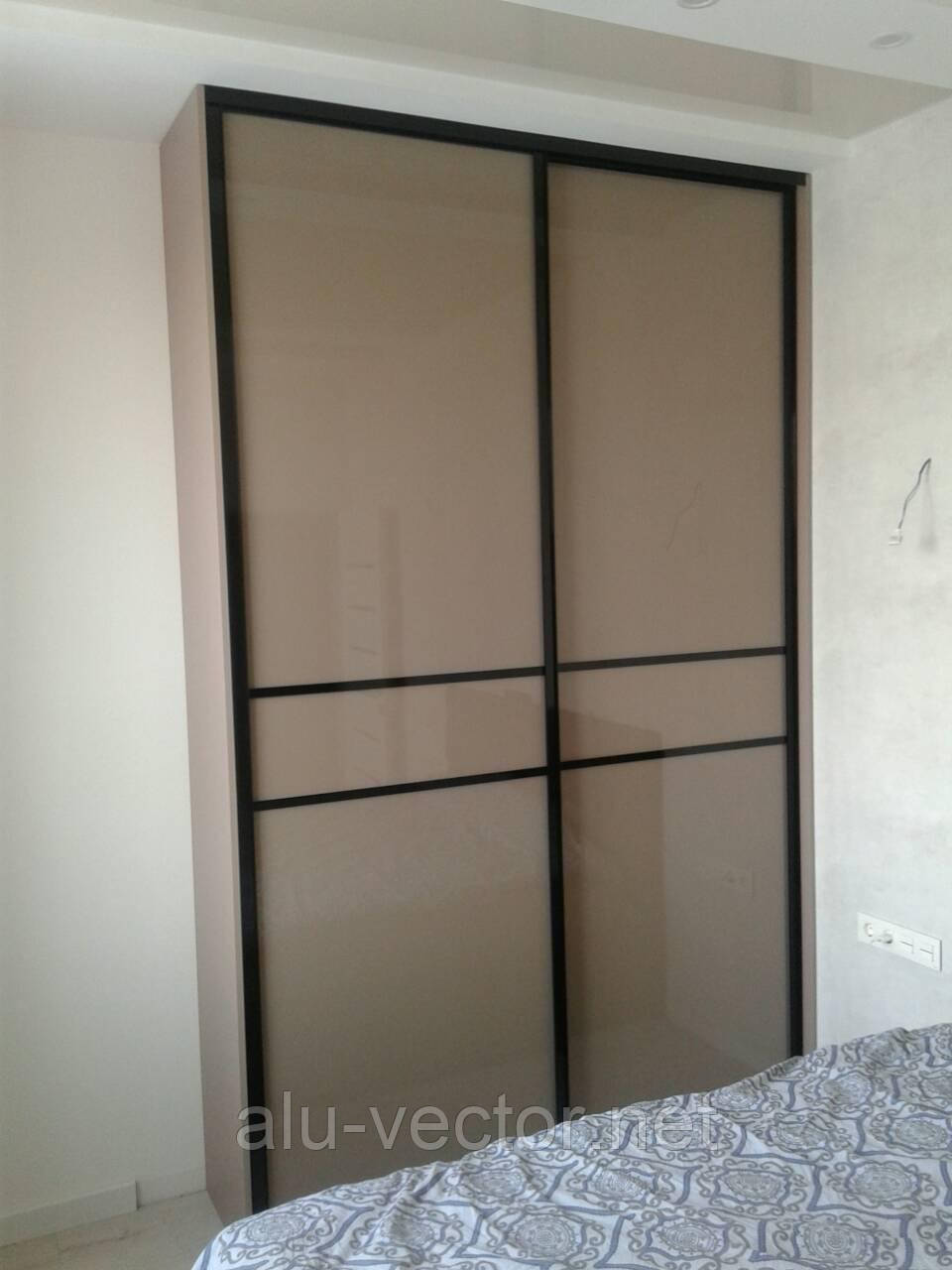 Двери купе с коричневым стеклом