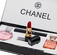 Набор оригинальнальной парфюмерии +косметичка Chanel