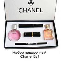 Косметический набор CHANEL, парфюмы, косметика 5в1