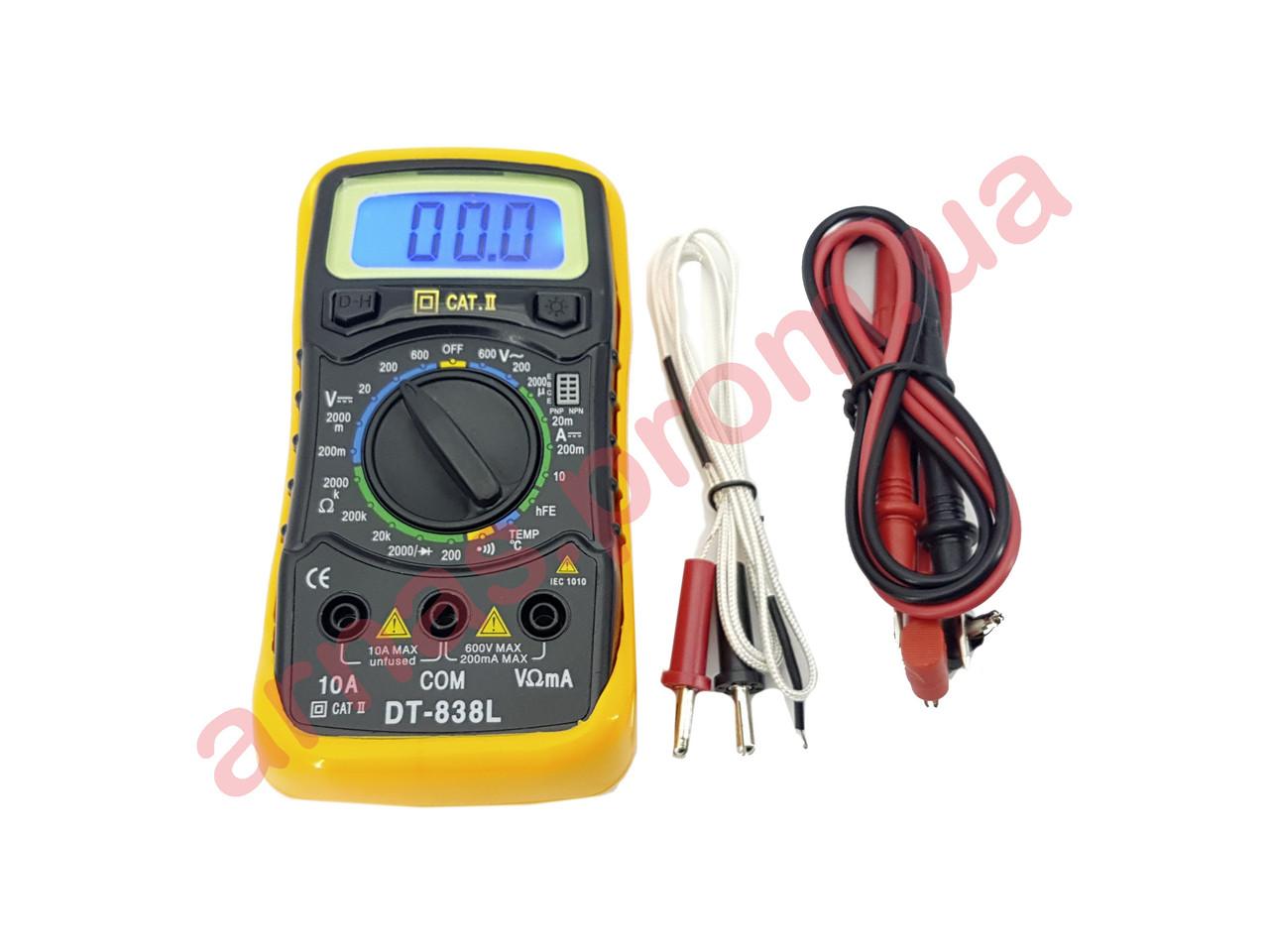 Мультиметр (тестер) DT838L цифровий
