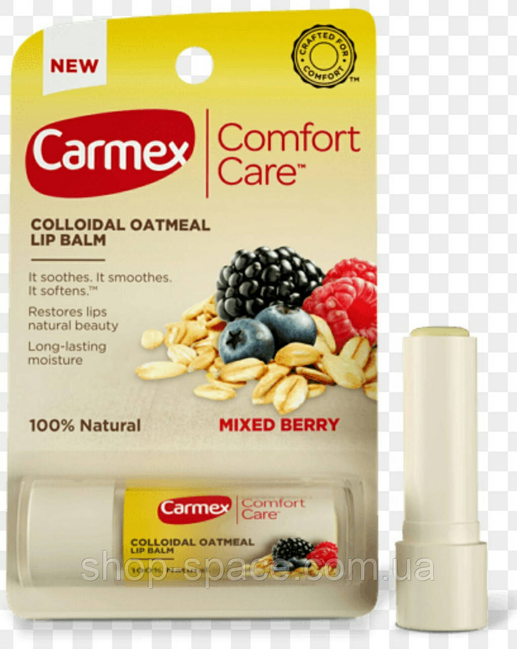 Бальзам для губ Carmex Colloidal Oatmeal Mixed Berry, 4,25 г