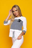 Блуза женская Симона 3, блуза в полоску, полосатая блуза,дропшиппинг