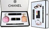 Красивый подарочный набор парфюмерии +косметичка Chanel