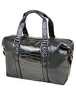 Дорожная сумка из кожзама 88516 black, фото 1