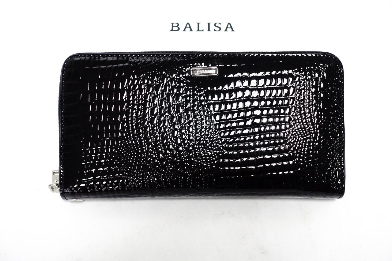 Кошелек Balisa высокий на молнии В77-569-1 black