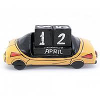 Календарь настольный Автомобиль дерево