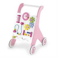 Ходунки каталки для детей Viga Toys розовые (50178)