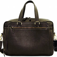 Кожаная сумка для поездок VATTO  черная flotar