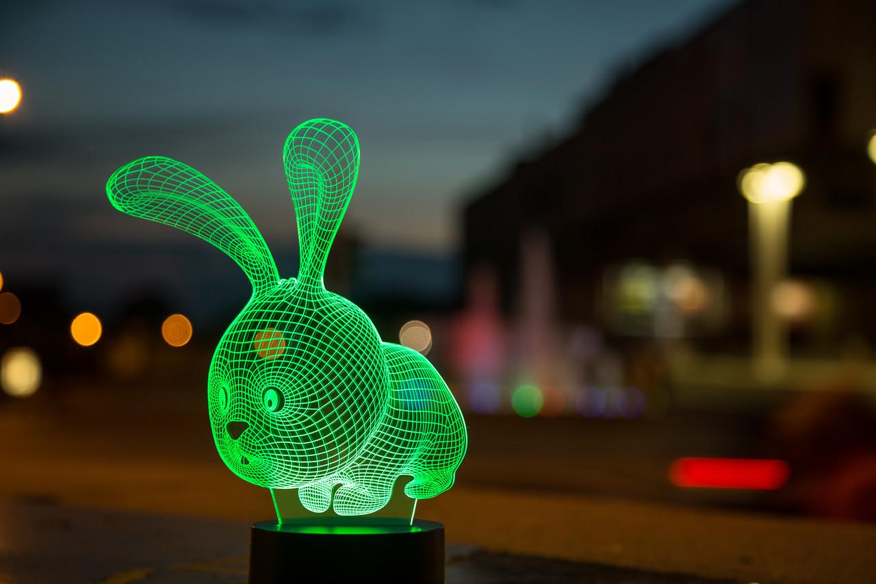 """Детский ночник """"Кролик"""" 3DTOYSLAMP, фото 1"""