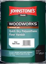 Лак для підлоги акриловий Johnstone's Quick Dry Polyurethane Floor Varnish 2,5л напівматовий