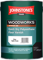 Лак для підлоги  Johnstone's Quick Dry Polyurethane Floor Varnish 2,5л напівматовий