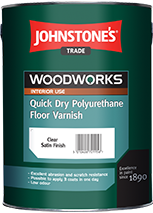 Лак для підлоги акриловий Johnstone's Quick Dry Polyurethane Floor Varnish 5л напівматовий