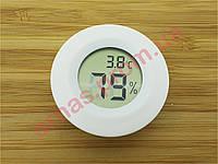 Термометр-гигрометр 27001 цифровой круглый белый