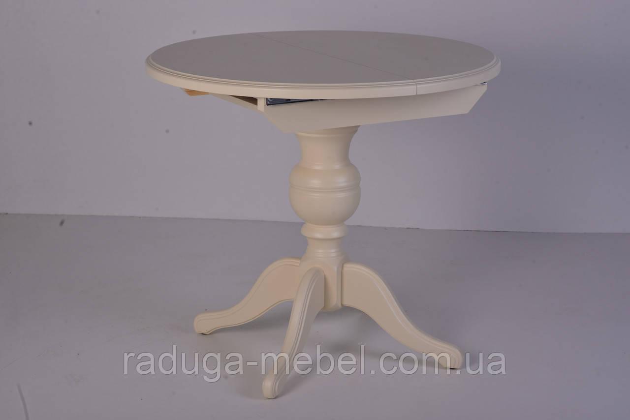 Стол деревянный круглый Анжелика  ( слоновая кость )