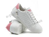 Кроссовки женские Violeta (80-12 white-pink) | 8 пар (Код 111874)