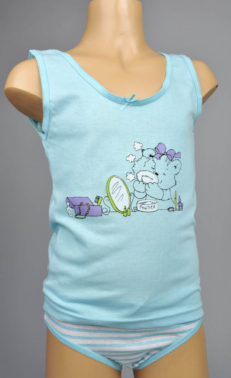 Комплект для девочек (в одном цвете  - голубой)