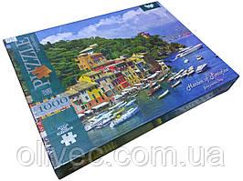 """Пазлы Danko toys  """"Harbor of Portofino""""  1000 элементов"""