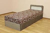Кровать 0,8 эконом блок Вельвет браун и мисс 02 (Катунь ТМ)