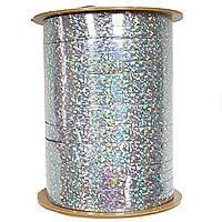 0,5 см (150 м) Лента для шаров серебро голограмма
