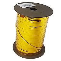 Лента для шаров металлик золотистая 0,5 см (150 м)