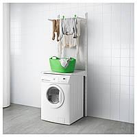 IKEA ALGOT Настенный рельс / полки / сушилка, белый  (399.038.33)