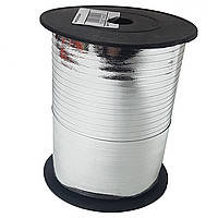 Лента для шаров металлик серебристая 0,5 см (250 м)
