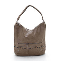 Женская сумка объемная мягкая одна ручка хаки