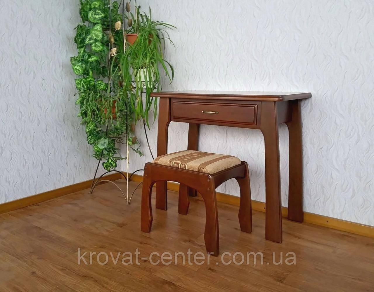 """Туалетний столик з пуфом з масиву дерева від виробника """"Для королеви"""""""
