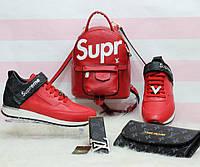 Набор: рюкзак, обувь, кошелек, пояс