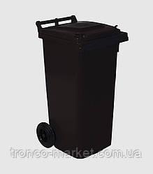 Мусорный бак на колесах 120л, пластик,Украина