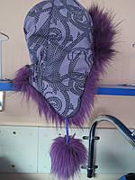 Детская зимняя шапка ушанка для девочек Украина 54р