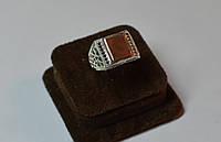 Купить печатка серебро с золотой вставкой