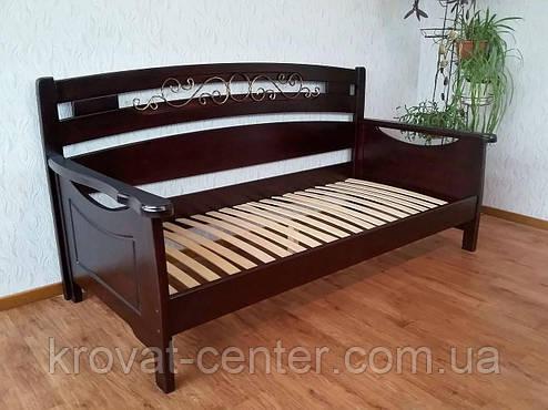 """Кровать полуторная """"Премиум"""". Массив - сосна, ольха, береза, дуб, фото 2"""