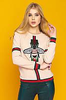 Блуза женская Флай, (5цв), трикотажная блуза, блуза с мухой