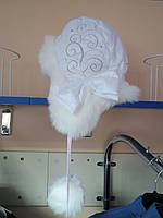 Детская зимняя шапка ушанка для девочек Klimani  50р;52р