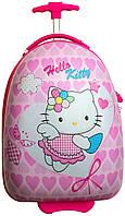 Пластиковый детский чемодан Hello Kitty ангелок №098 22 л