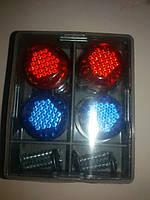 Автомобильный саморез катафот декоративный ( цвет сине-красный ) светоотражающий