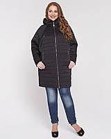 Женская стеганая куртка с рукавом летучая мышка 48-56р
