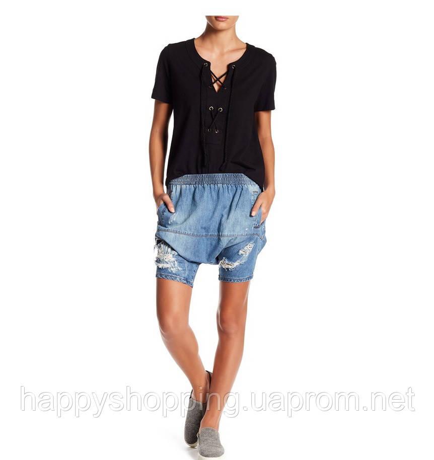 Женские стильные шорты с матней заниженная талия Calypsos американского бренда One Teaspoon