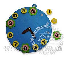 """Детский развивающий набор из фетра """"Часы"""", 24 см"""