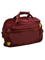 Дорожная сумка на колесах 22838-22in bordo, фото 1